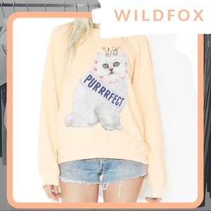 🆕 NWT WILDFOX Purrrfect Cat Sommers Sweater